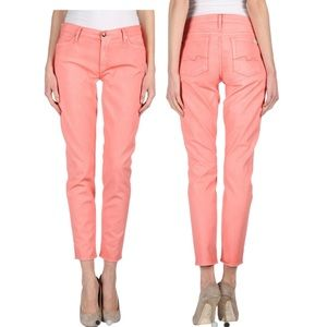 7 FOR ALL MANKIND The Cropped Skinny Jeans coral